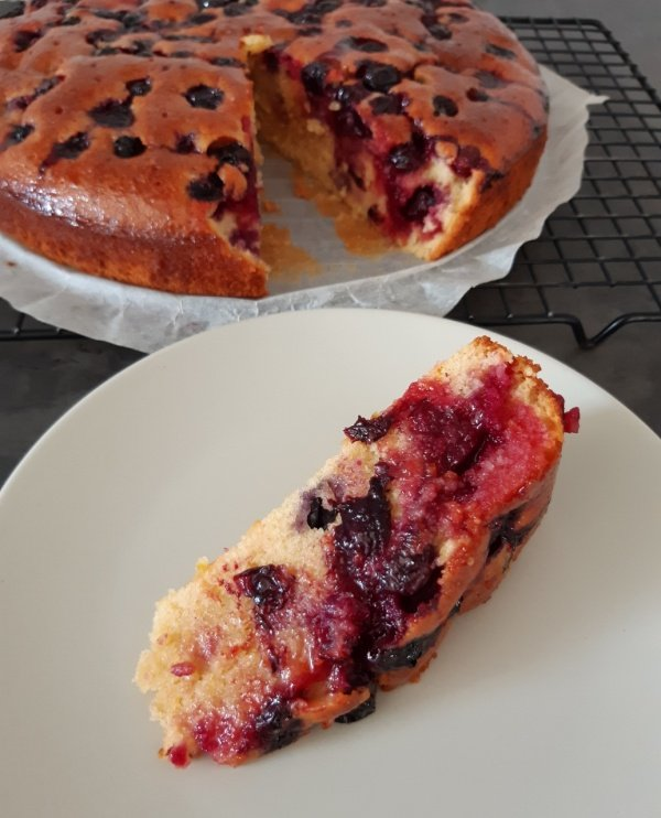 Blueberry, lemon and orange cake